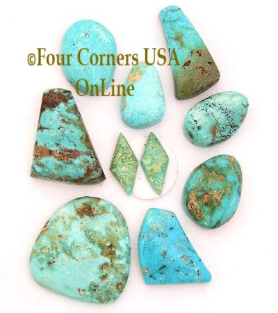 American Turquoise Cabochon Stones Four Corners USA OnLine Jewelry Making Beading Supplies