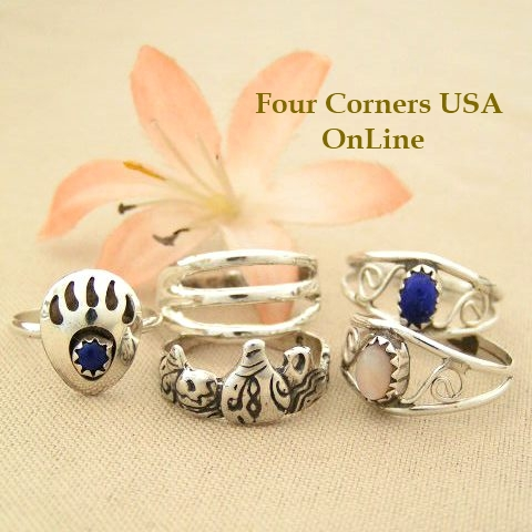 Native American made Rings On Sale Now at Four Corners USA Online