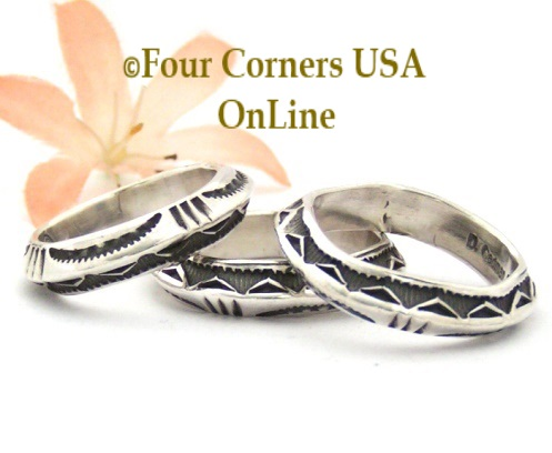 silver band rings four corners usa online native american navajo jewelry - Native American Wedding Rings