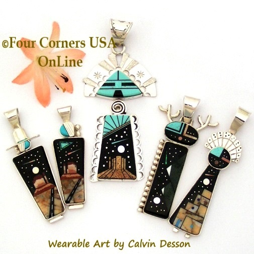 Multi Color Multi Stone Turquoise Jewelry Collection Four Corners USA OnLine Native American Jewelry