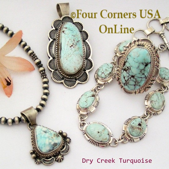Nevada Dry Creek Turquoise Collection at Four Corners USA OnLine Native American Jewelry