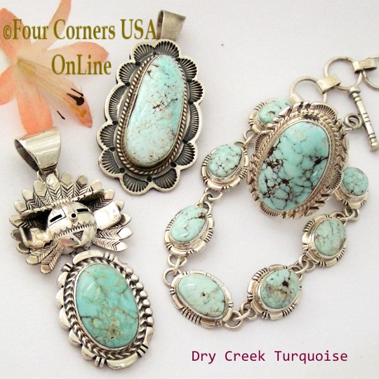 Dry Creek Turquoise Native American Jewelry Collection at Four Corners USA OnLine