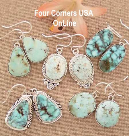 Nevada Dry Creek Turquoise Earrings Collections Four Corners USA OnLine Native American Jewelry