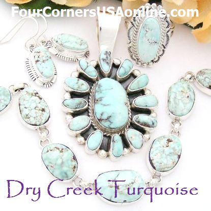 Four Corners USA Native American Dry Creek Turquoise Jewelry Collection