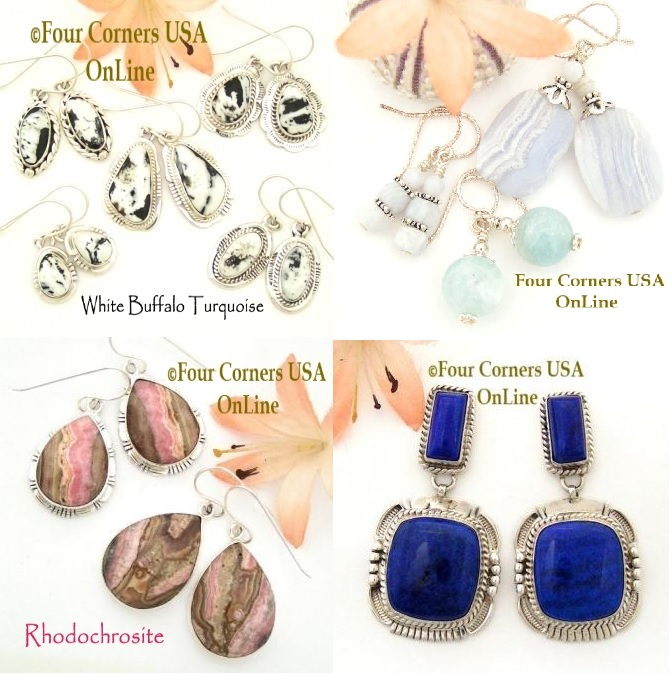 Shop Native American made and Artisan handcrafted Earrings at Four Corners USA OnLine