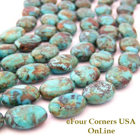 Boulder Kingman Turquoise Bead Strands Four Corners USA OnLine Jewelry Making Supplies