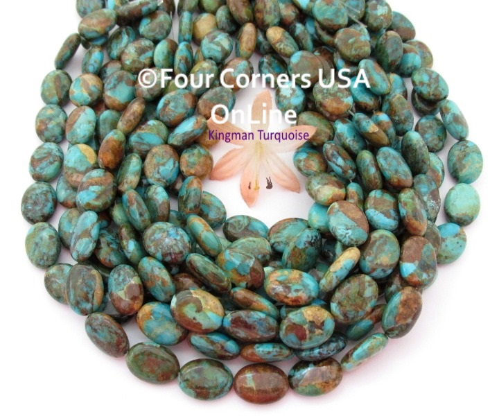 Boulder Kingman Turquoise Bead Strands Four Corners USA OnLine Jewelry Making Beading Supplies