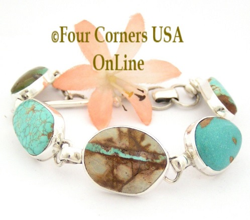 Turquoise Link and Cuff Bracelets Four Corners USA OnLine Native American Jewelry