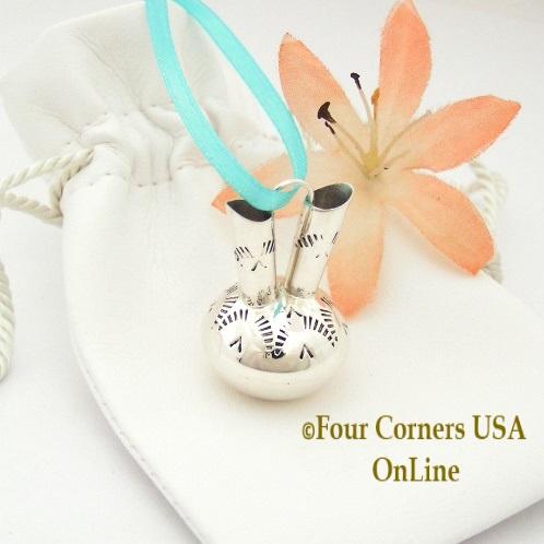 Sterling Wedding Vase Miniature Navajo Artisan Silversmith Wesley Whitman Four Corners USA OnLine