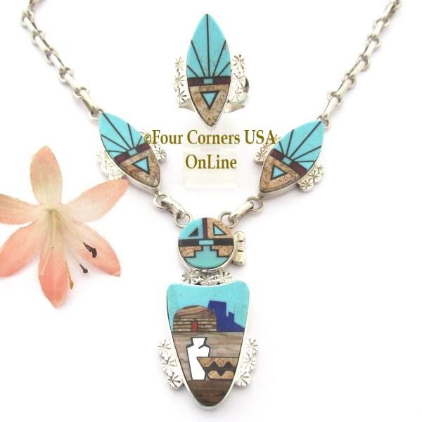 Navajo Calvin Desson Necklace Four Corners USA OnLine Fine Native American Jewelry