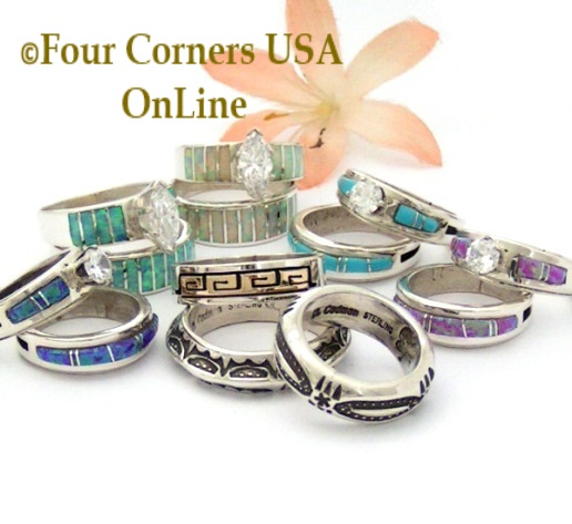 Engagement Wedding Ring Sets Navajo Wedding Rings Four Corners