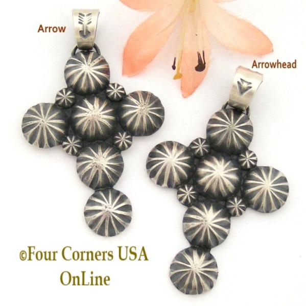 All Silver Pendants Crosses Four Corners USA OnLine Native American Jewelry