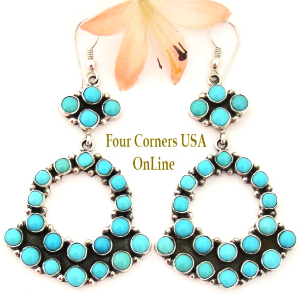 Turquoise Earring Collection at Four Corners USA Online Native American Silver Jewelry