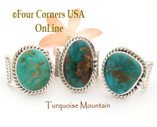 Mens Turquoise Rings Four Corners USA OnLine Native American Jewelry