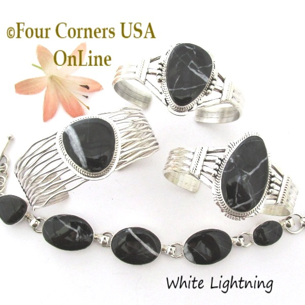 White Lightning Navajo Silver Jewelry Four Corners USA OnLine Native American Collection