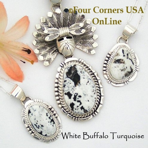 White Buffalo Turquoise Jewelry Collection at Four Corners USA OnLine