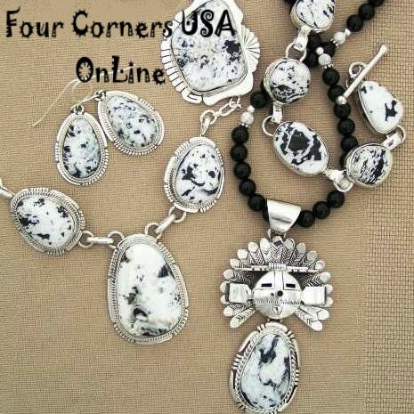 White Turquoise Native American Jewelry Collection at Four Corners USA OnLine