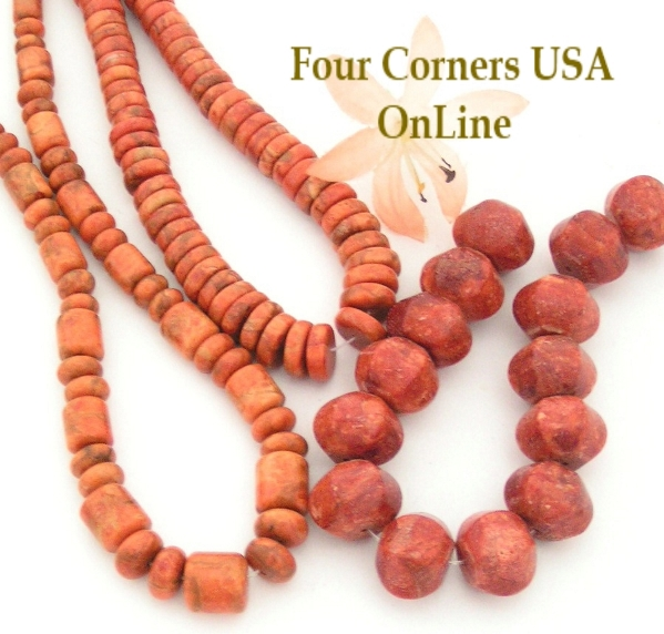 Organic Apple Coral Bead Strands for Southwest Jewelry Designs Four Corners USA Online Beading Jewelry Making Supplies