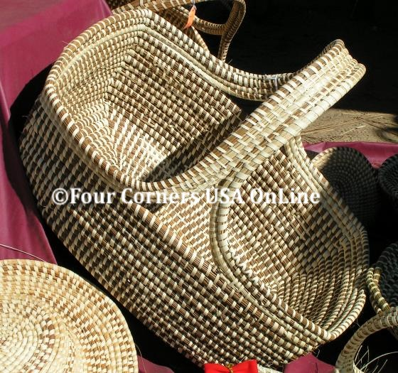 South Carolina Low Country Sweetgrass Coil Baskets Four Corners USA OnLine