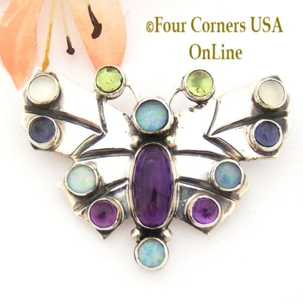Gemstone Butterfly Navajo Andy Cadman Four Corners USA OnLine