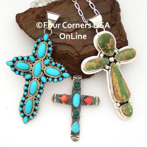 Native American Cross Jewelry Four Corners USA OnLine