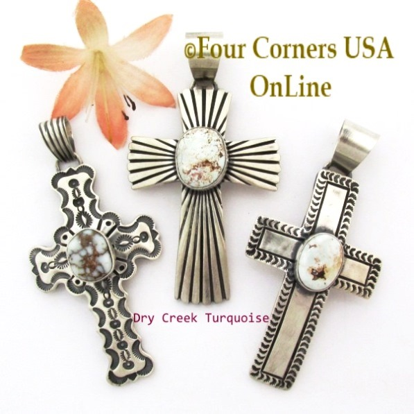 Native American Cross Jewelry Four Corners USA OnLine Turquoise Silver Jewelry