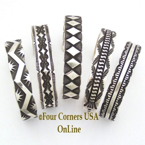 All Silver and Mixed Metal Cuff Link Bracelets Four Corners USA OnLine Native American Jewelry