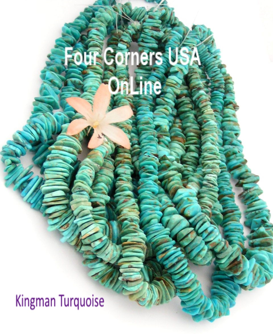 Graduated Arizona Kingman Turquoise Bead Strands Four Corners USA OnLine Jewelry Making Supplies