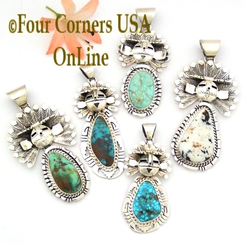 American Turquoise Pendants Four Corners USA OnLine Navajo Zuni Jewelry