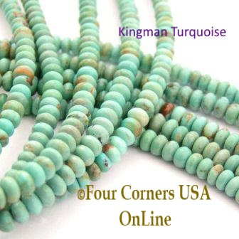 Kingman Turquoise Bead Strands Four Corners USA OnLine Jewelry Making Beading Supplies