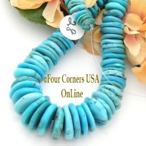 Graduated Turquoise Beads Four Corners USA OnLine Jewelry Making Supplies