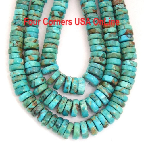 Graduated American Kingman Turquoise Bead Strands Four Corners USA OnLine Southwest Jewelry Making Supplies