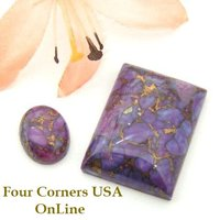 Purple Dyed Turquoise Cabochons for Jewelry Making Four Corners USA OnLine