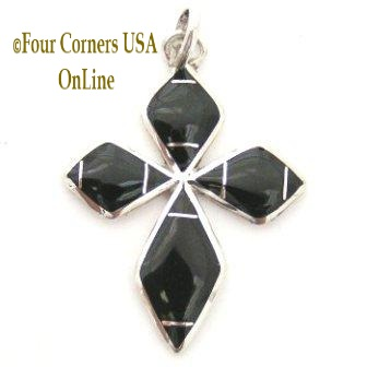 Onyx and Jet Native American Pendants Four Corners USA OnLine