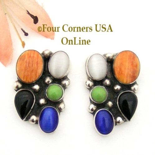 Multi Color Multi Stone Earrings Four Corners USA OnLine Four Corners USA OnLine Native American Jewelry