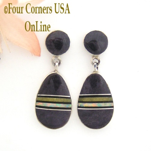 Post Style Earrings Four Corners USA OnLine Native American Silver Jewelry