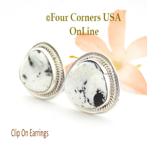Clip On Earrings Four Corners USA OnLine Native American Silver Jewelry