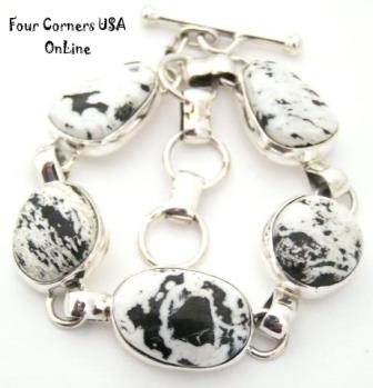 White Buffalo Turquoise Link Bracelet Four Corners USA OnLine Native American Jewelry