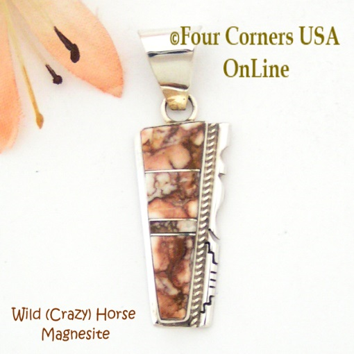Wild Horse Crazy Horse Magnesite Four Corners USA OnLine Native American Silver Jewelry