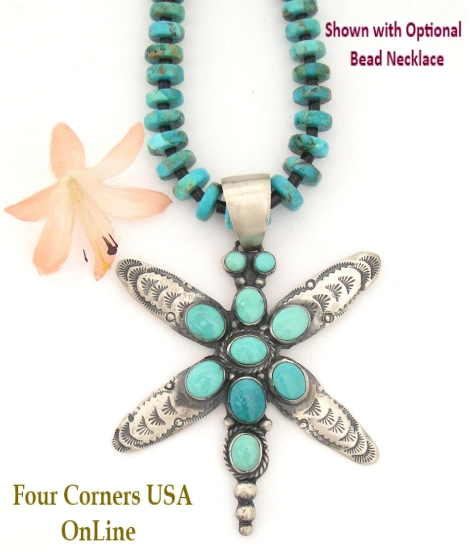 Turquoise Dragonfly Necklace Four Corners USA Online