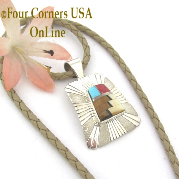 Inlay Pendants On Sale Now at Four Corners USA OnLine Native American Jewelry