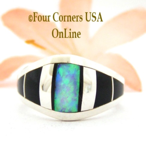 Onyx Jet Rings Four Corners USA OnLine Native American Jewelry