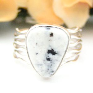 White Turquoise Ring Four Corners USA OnLine Native American Navajo Silver Jewelry