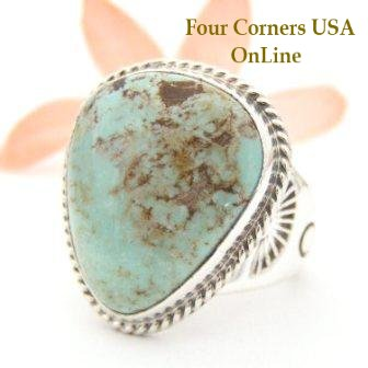 Dry Creek Turquoise Ring Four Corners USA OnLine Navajo Silver Jewelry