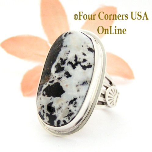 Size 6 White Buffalo Turquoise Ring Collection Four Corners USA OnLine Native American Navajo Silver Jewelry