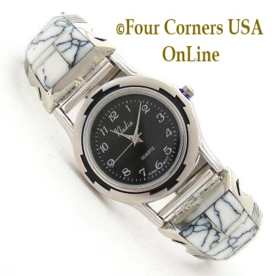 White Buffalo Stone and Turquoise Watches for Men and Women Four Corners USA OnLine Native American Jewelry
