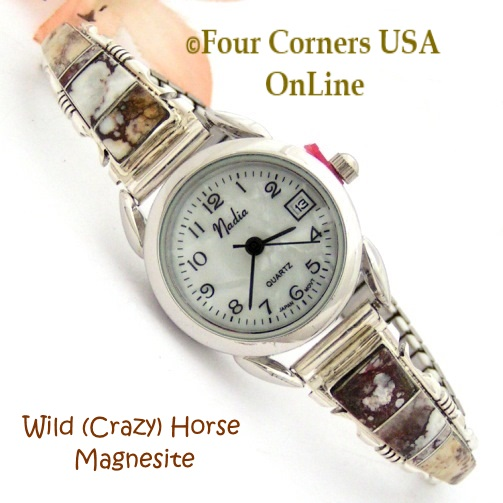 Womens Sterling Silver Watches Native American Jewelry at Four Corners USA OnLine