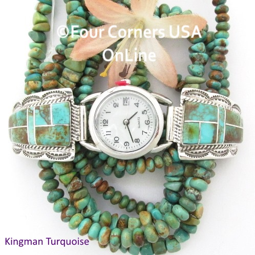 Native American Navajo and Zuni Artisan handmade Sterling Silver Watches, Watch Bands, Watch Tips and Sterling Leather Watch Straps Four Corners USA OnLine