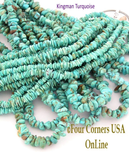 American Kingman Turquoise Nugget Bead Strands Four Corners USA OnLine Jewelry Supplies