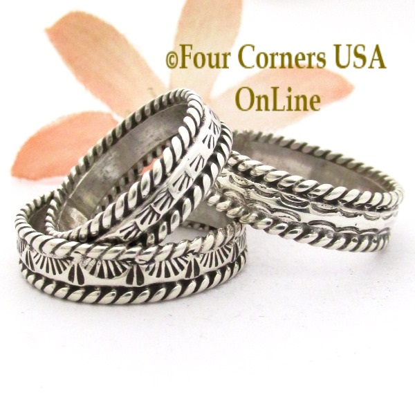 Native American Handmade Silver Turquoise Rings On Sale at Four Corners USA OnLine